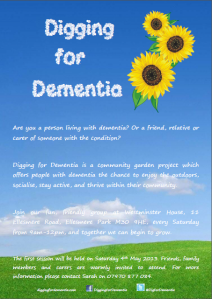 The Digging for Dementia poster.